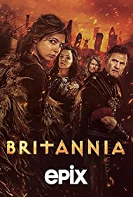 David Morrissey, Julian Rhind-Tutt, Annabel Scholey, and Eleanor Worthington-Cox in Britannia (2017)