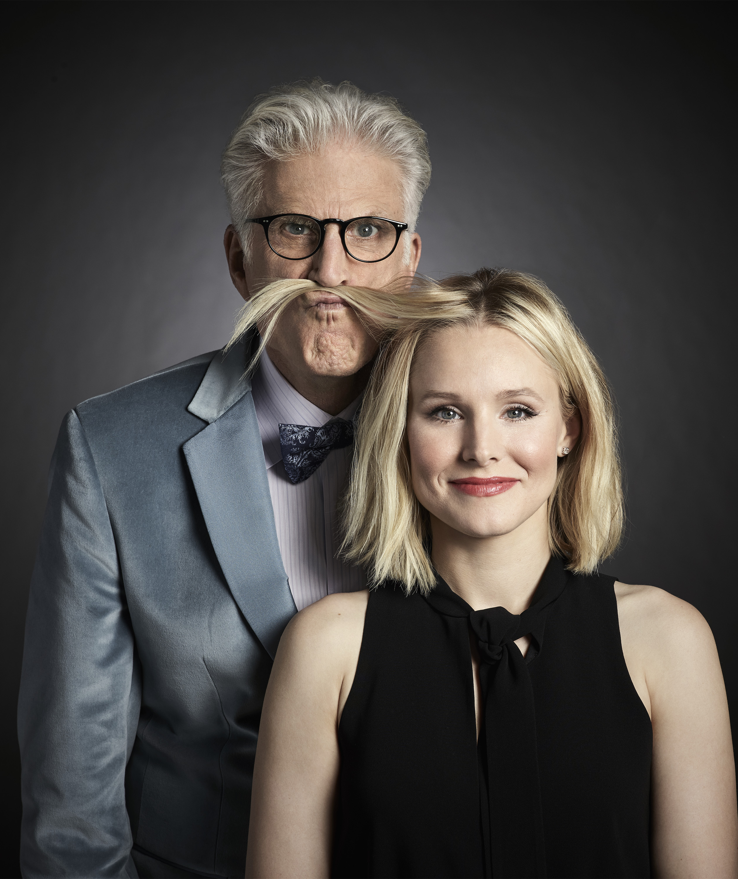 Ted Danson and Kristen Bell at an event for The Good Place (2016)