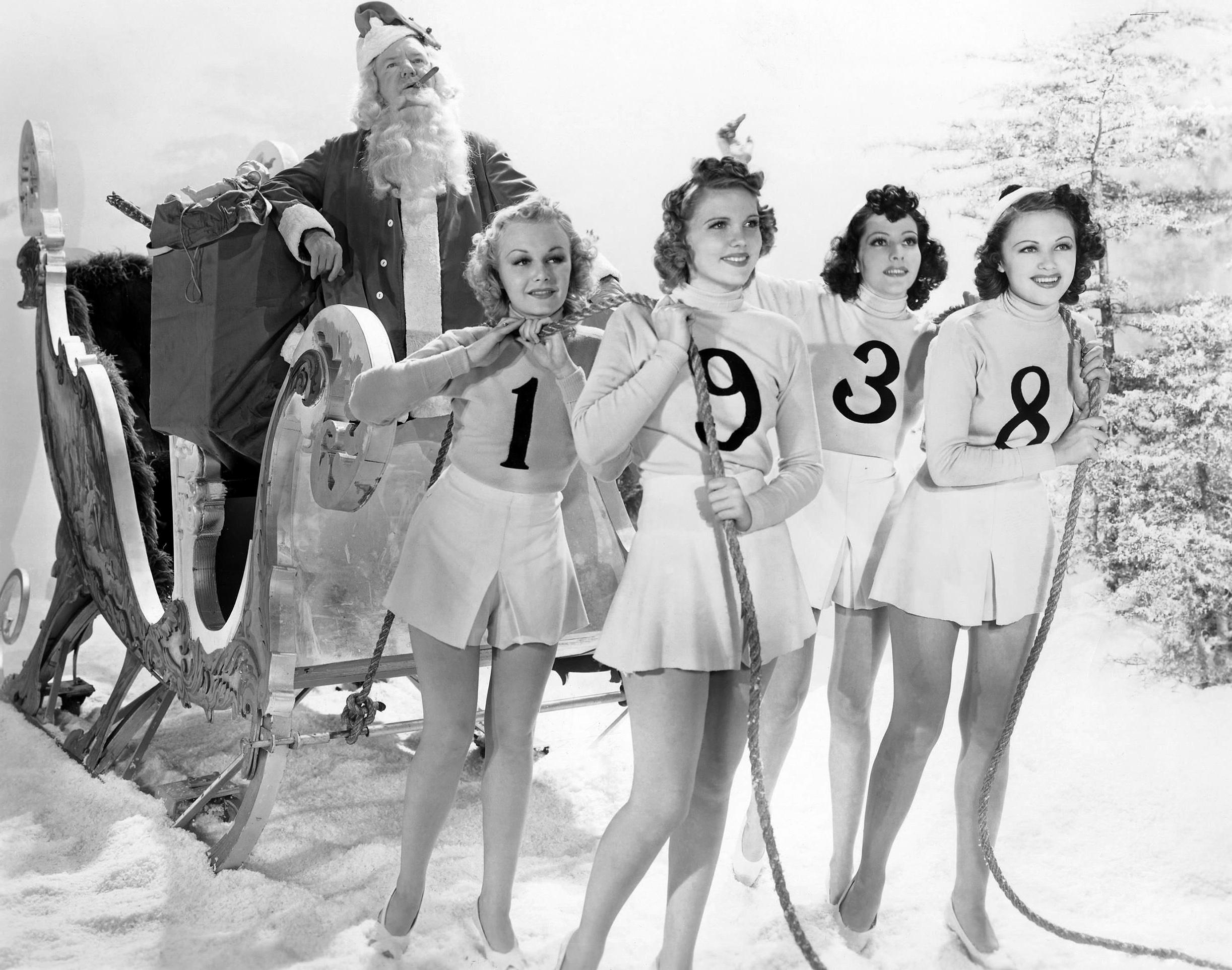 W.C. Fields, Marie Burton, Eleanor Counts, Eleanor Keaton, and Gwen Kenyon in The Big Broadcast of 1938 (1938)