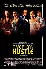 Christian Bale, Amy Adams, Bradley Cooper, Jeremy Renner, and Jennifer Lawrence in American Hustle (2013)