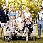 Beth Broderick, John Lescault, Reece Thompson, Frieda Jane, Benjamin Anderson, Michael Rupnow, Heather Williams, and Madison Iseman in The Fox Hunter (2020)