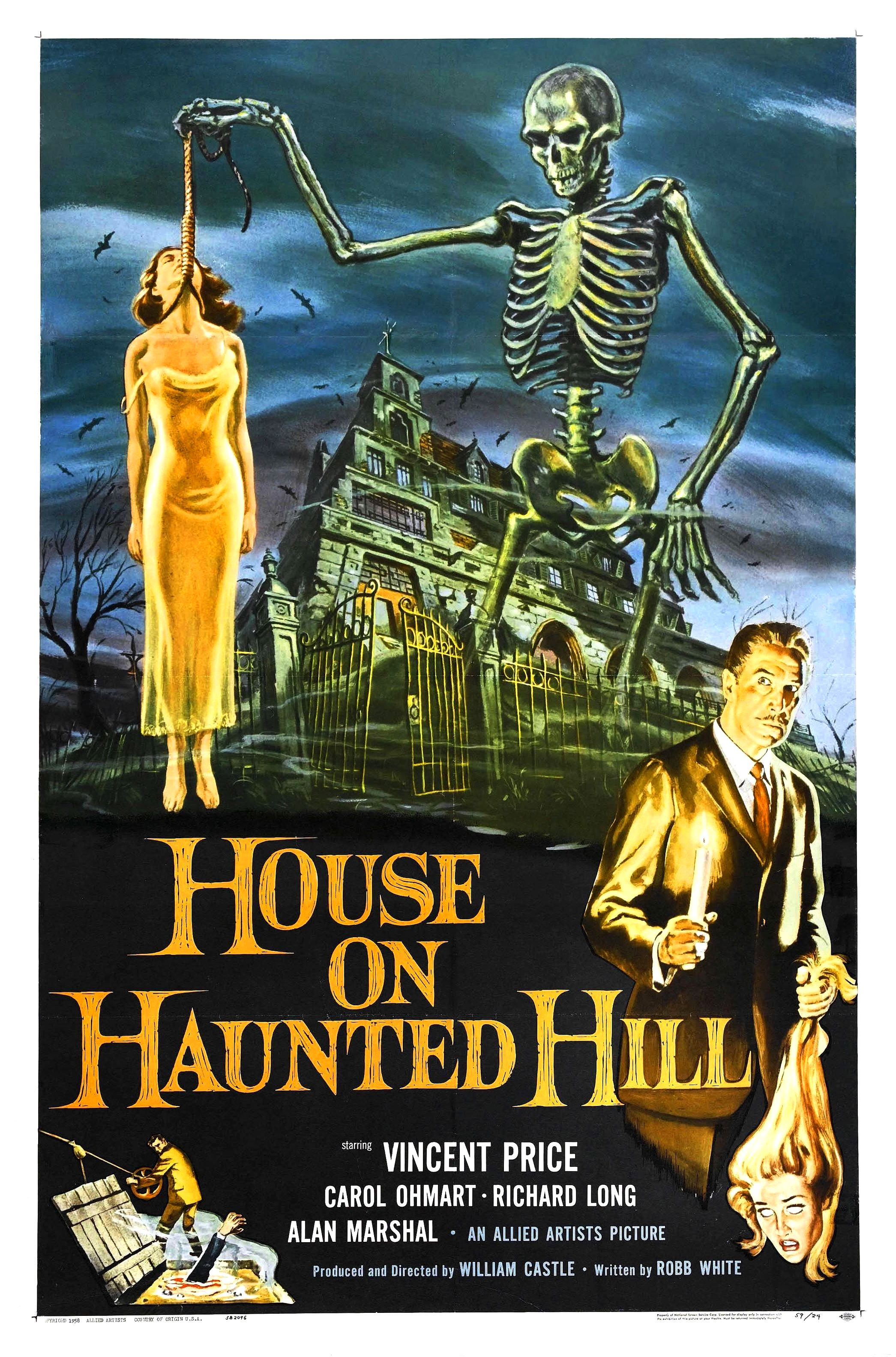 Image result for house on haunted hill 1958
