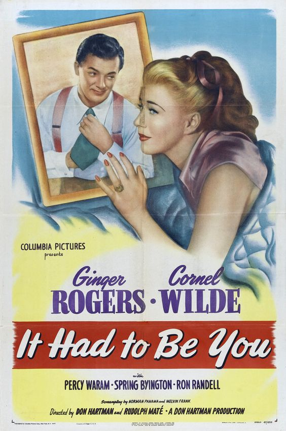 Ginger Rogers and Cornel Wilde in It Had to Be You (1947)