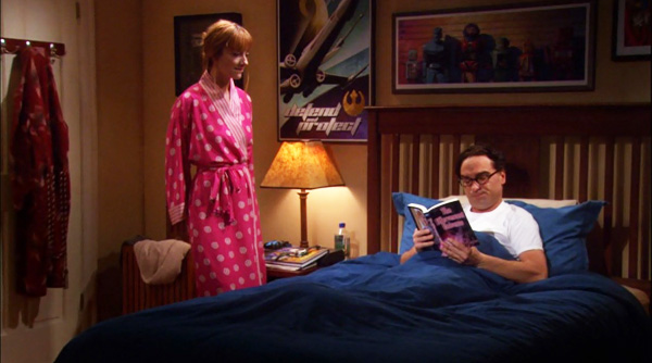Johnny Galecki and Judy Greer in The Big Bang Theory (2007)