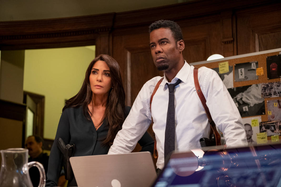 Chris Rock and Marisol Nichols in Spiral: From the Book of Saw (2020)