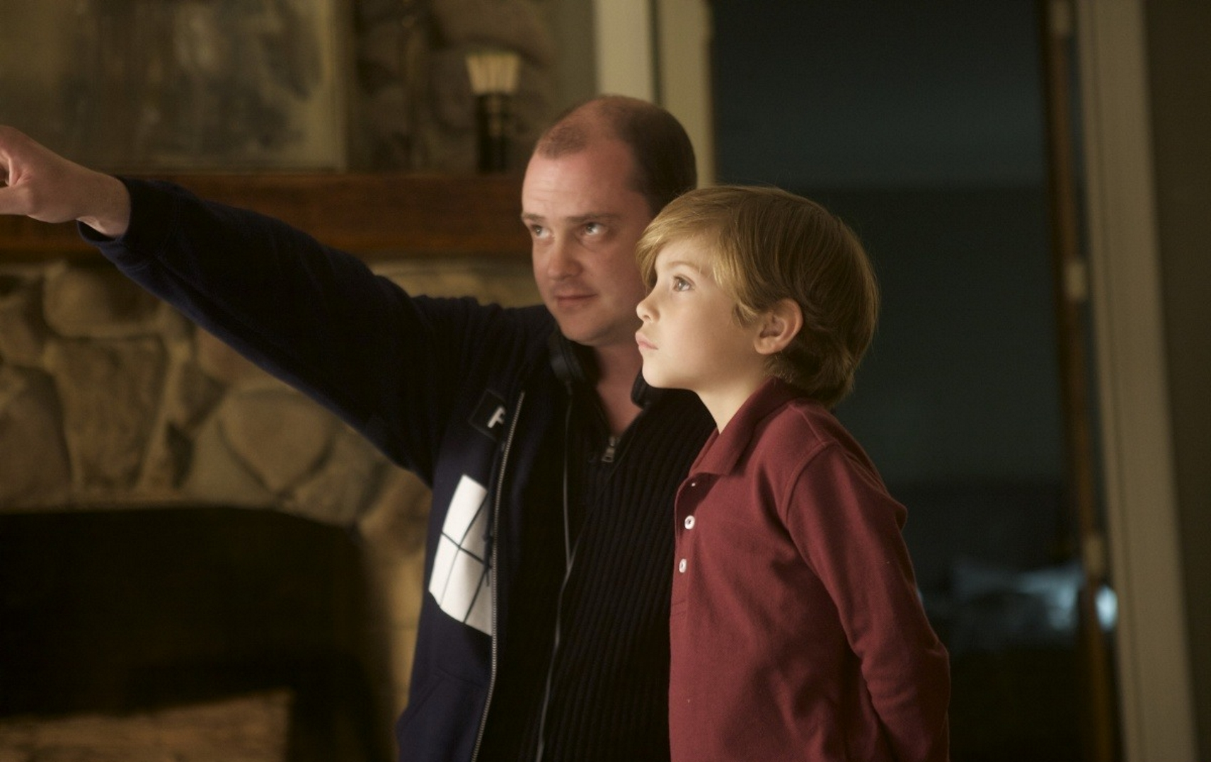 Mike Flanagan and Jacob Tremblay in Before I Wake (2016)
