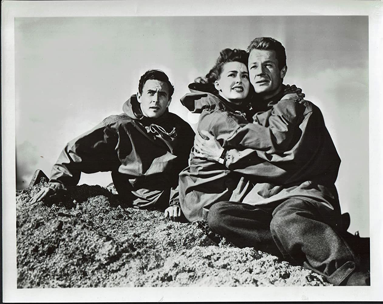 Richard Derr, Peter Hansen, and Barbara Rush in When Worlds Collide (1951)