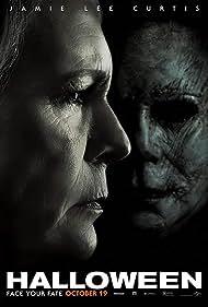 Jamie Lee Curtis and Nick Castle in Halloween (2018)