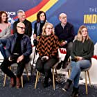 Stanley Tucci, Tate Donovan, Amy Ryan, Laura Benanti, and Sara Colangelo at an event for The IMDb Studio at Acura Festival Village (2020)