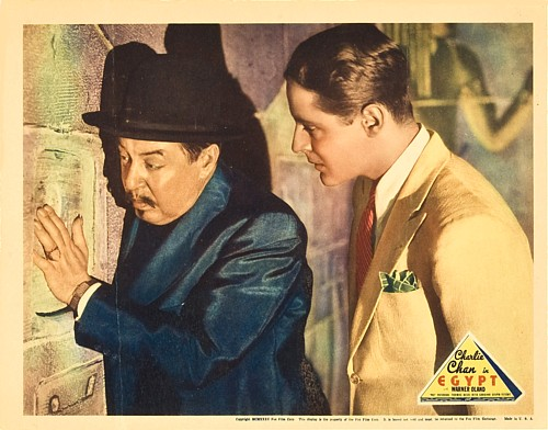 Thomas Beck and Warner Oland in Charlie Chan in Egypt (1935)