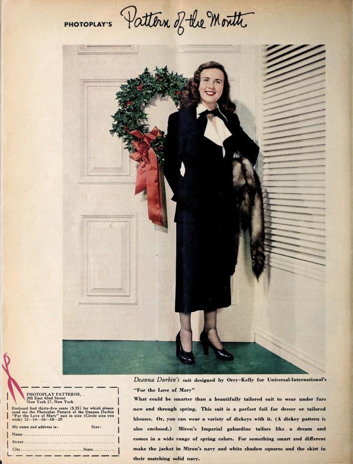 Deanna Durbin in For the Love of Mary (1948)