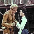 Bruce Bennett and Jacqueline Evans in Daniel Boone, Trail Blazer (1956)