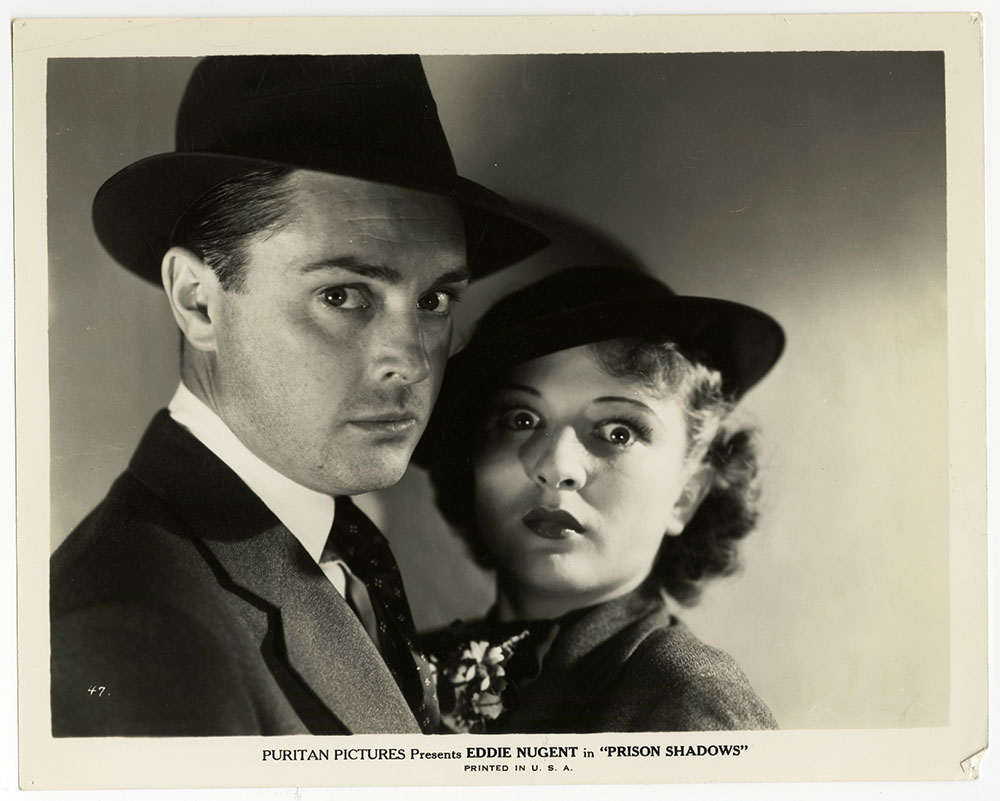 Joan Barclay and Edward J. Nugent in Prison Shadows (1936)