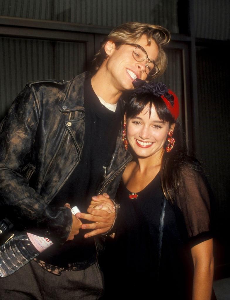 Brad Pitt and Jill Schoelen at an event for Red Heat (1988)