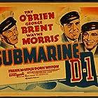 Pat O'Brien, George Brent, and Wayne Morris in Submarine D-1 (1937)