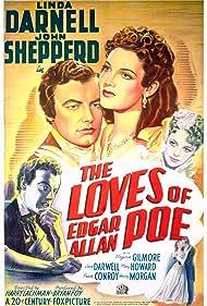 Linda Darnell, Virginia Gilmore, and Shepperd Strudwick in The Loves of Edgar Allan Poe (1942)