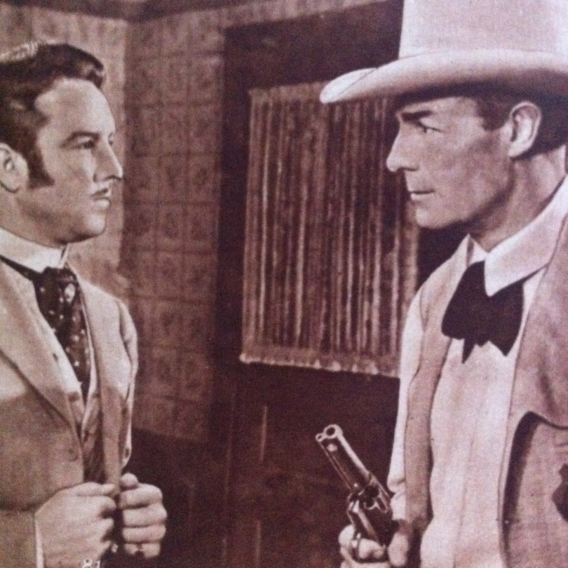 Randolph Scott and Steve Brodie in Trail Street (1947)