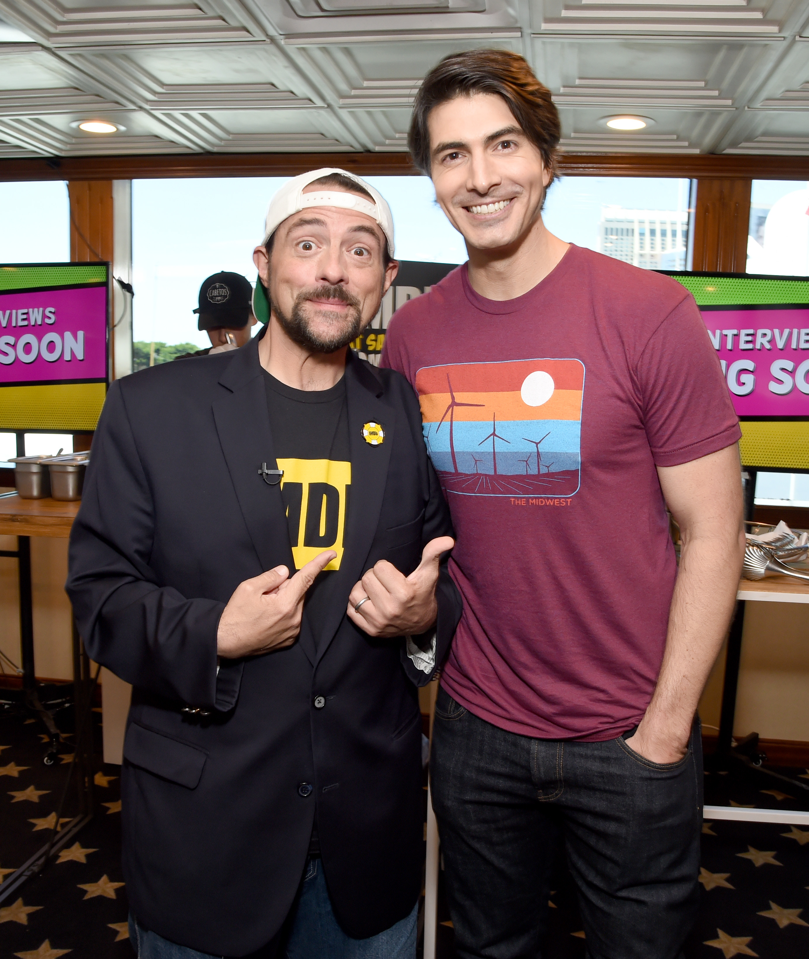Kevin Smith and Brandon Routh at an event for IMDb at San Diego Comic-Con (2016)