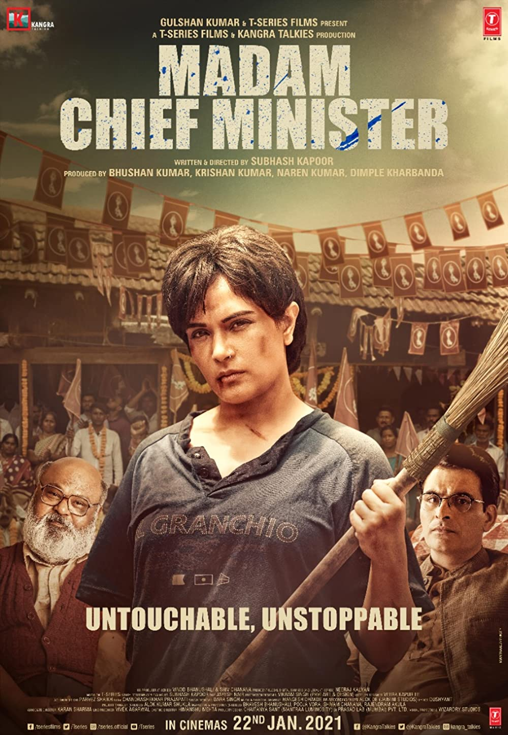 Madam Chief Minister 2021 Hindi Full Movie 720p PreDVDRip 950MB Download