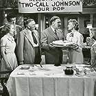William Bendix, Ray Collins, Gloria Henry, Connie Marshall, Una Merkel, and Jeff Richards in Kill the Umpire (1950)