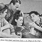 Inna Gest, Leo Gorcey, Bobby Jordan, and Dave O'Brien in Boys of the City (1940)