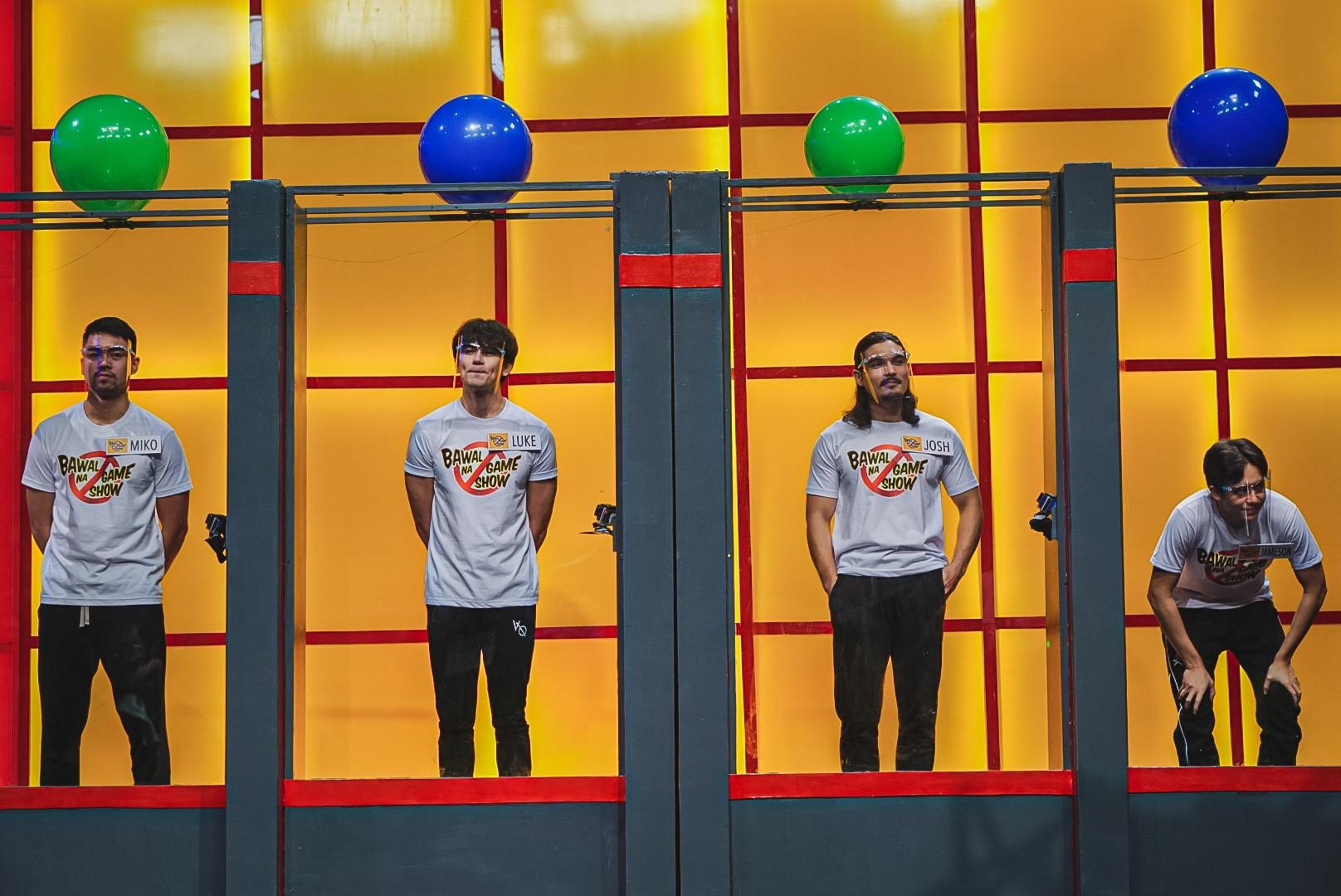 Joshua Colet, Miko Raval, Luke Conde, and Jameson Blake in Bawal na game show (2020)