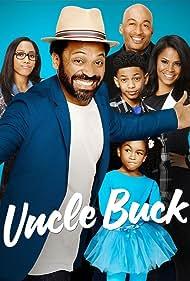 Nia Long, Mike Epps, James Lesure, Sayeed Shahidi, Aalyrah Caldwell, and Iman Benson in Uncle Buck (2016)