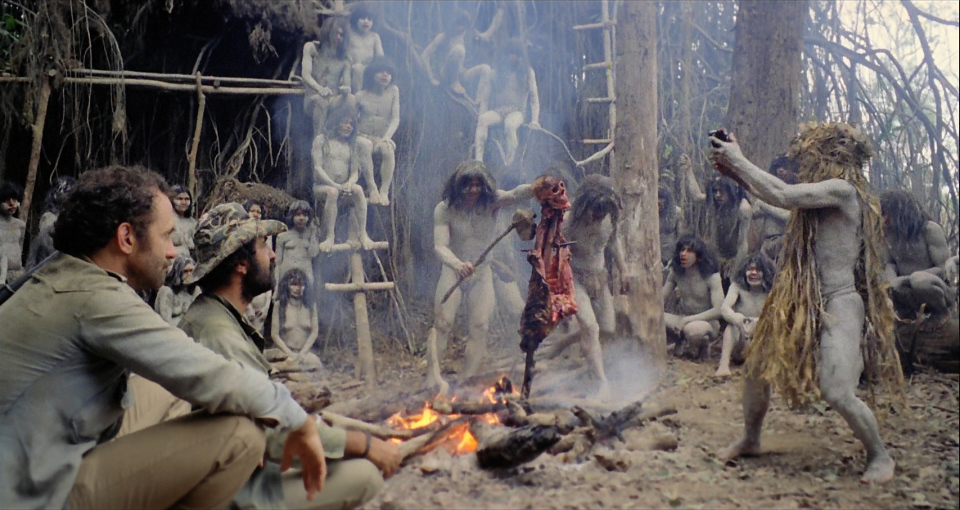 Salvatore Basile and Robert Kerman in Cannibal Holocaust (1980)