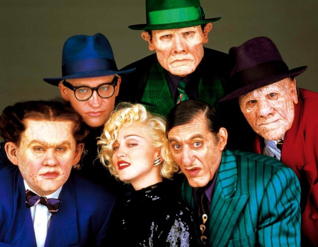 Madonna Al Pacino William Forsythe RG Armstrong Ed ORoss and Henry Silva in Dick Tracy 1990