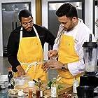Basil J. Maqbool and Kwame Onwuachi in Top Chef Amateurs (2021)