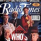 Colin Baker, Tom Baker, Peter Davison, Sylvester McCoy, and Jon Pertwee in Doctor Who: Dimensions in Time (1993)