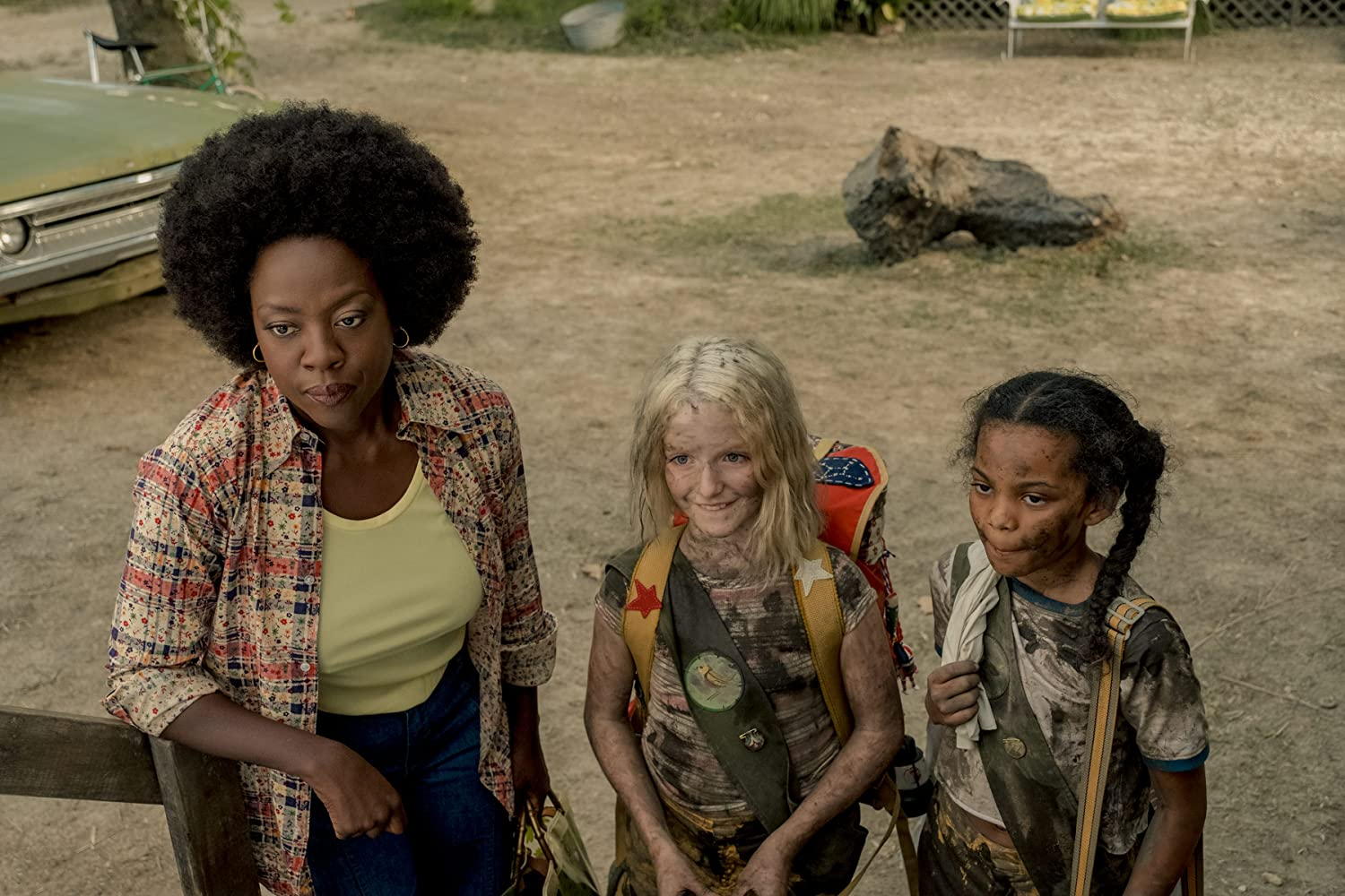 Viola Davis, Mckenna Grace, and Milan Ray in Troop Zero (2019)