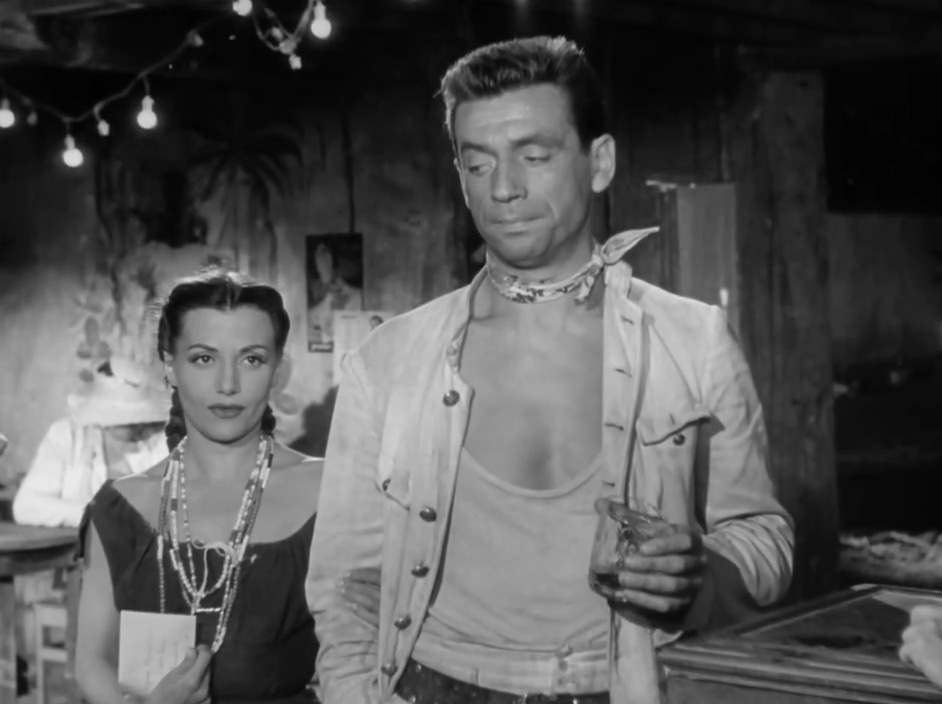Véra Clouzot and Yves Montand in Le salaire de la peur (1953)