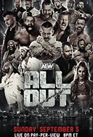 Jay Reso, Darby Allin, C.M. Punk, and Kenny Omega in All Elite Wrestling: All Out (2021)