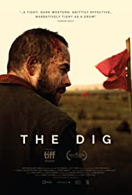 Lorcan Cranitch, Francis Magee, Emily Taaffe, Brian J. Falconer, Moe Dunford, Andy Tohill, and Ryan Tohill in The Dig (2018)