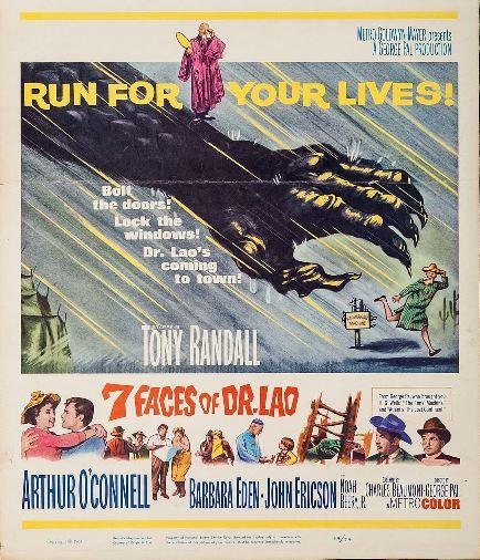 Barbara Eden, John Ericson, Arthur O'Connell, and Tony Randall in 7 Faces of Dr. Lao (1964)