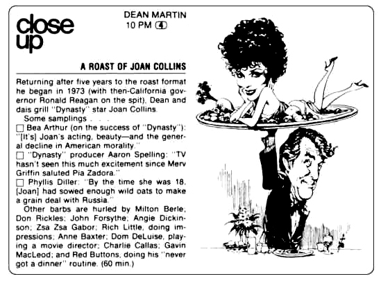 The Dean Martin Celebrity Roast Joan Collins 1984