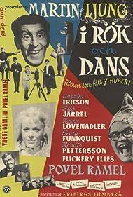 Annalisa Ericson, Martin Ljung, and Povel Ramel in I rök och dans (1954)