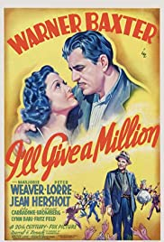 I'll Give a Million(1938) Poster - Movie Forum, Cast, Reviews