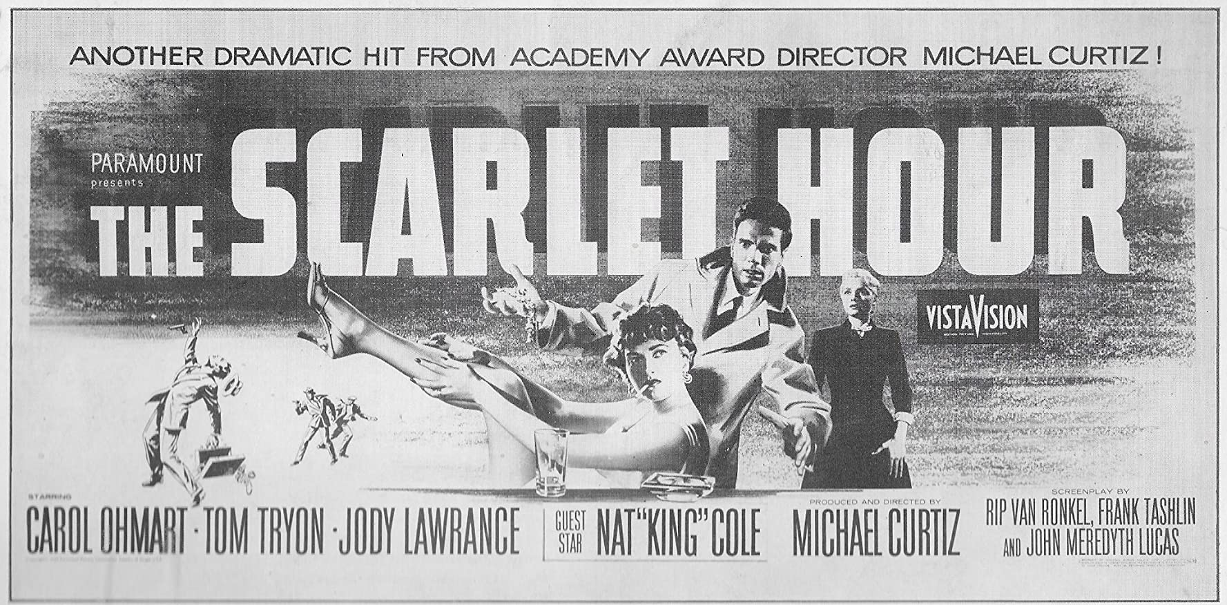 Jody Lawrance, Carol Ohmart, and Tom Tryon in The Scarlet Hour (1956)