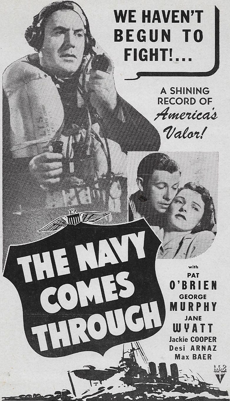 Pat O'Brien, George Murphy, and Jane Wyatt in The Navy Comes Through (1942)