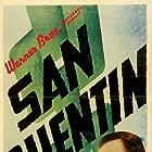 Humphrey Bogart, Pat O'Brien, Barton MacLane, and Ann Sheridan in San Quentin (1937)