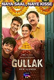 Jameel Khan, Geetanjali Kulkarni, Harsh Mayar, and Vaibhav Raj Gupta in Gullak (2019)