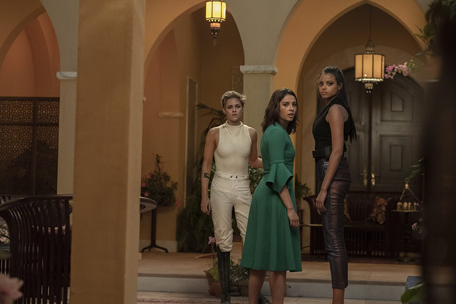 Kristen Stewart, Naomi Scott, and Ella Balinska in Charlie's Angels (2019)