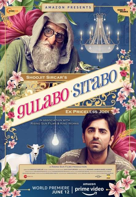 Gulabo Sitabo (2020) Full Movie [Hindi DD5.1] 350MB HDRip 480p ESubs Download