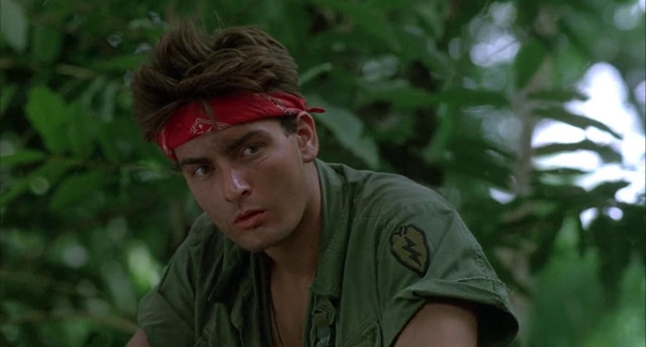Charlie Sheen in Platoon (1986)