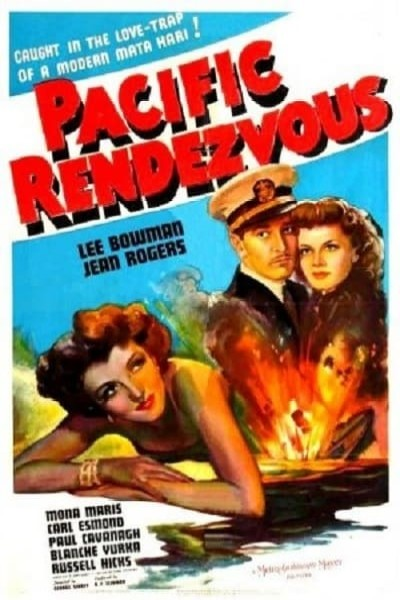 Lee Bowman, Mona Maris, and Jean Rogers in Pacific Rendezvous (1942)
