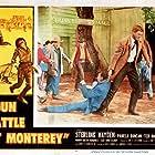 Sterling Hayden and Ted de Corsia in Gun Battle at Monterey (1957)