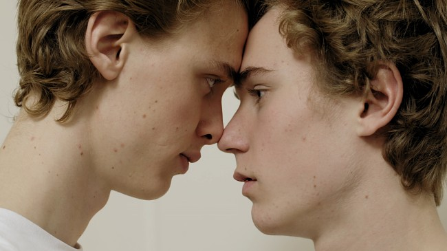 Henrik Holm and Tarjei Sandvik Moe in Skam (2015)