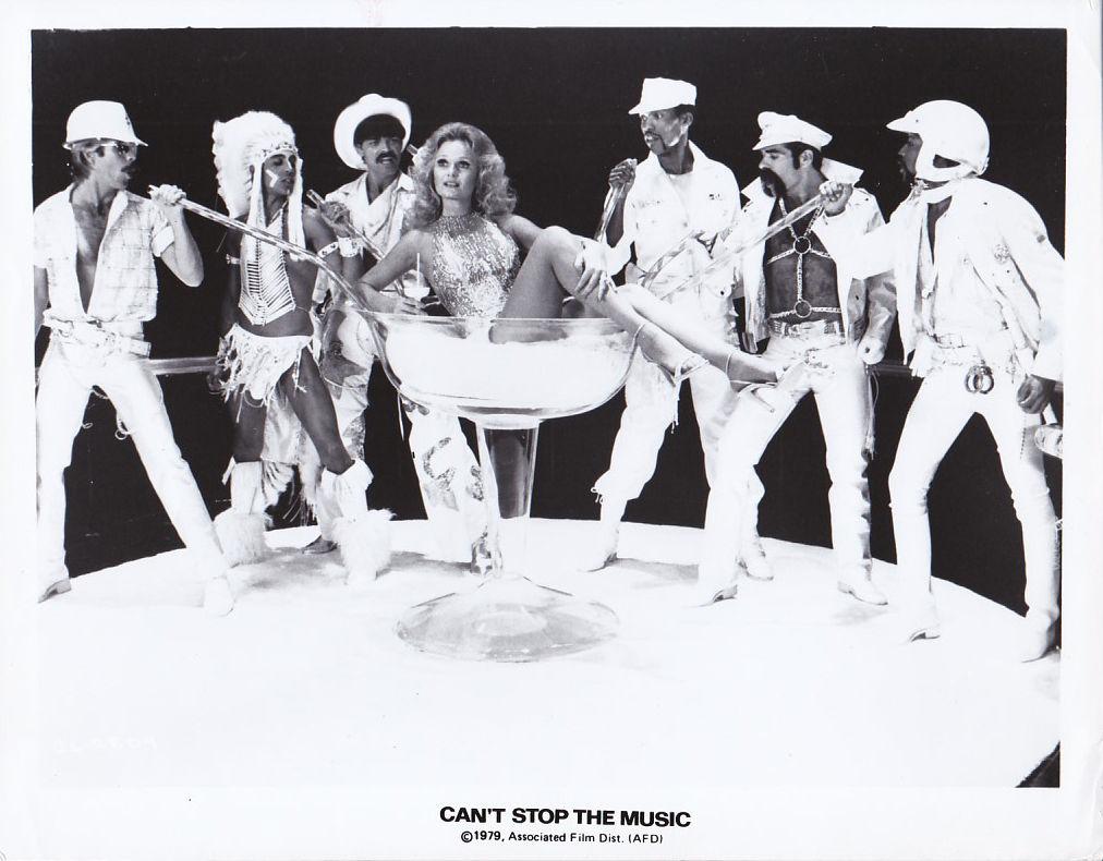 Alex Briley, David Hodo, Glenn Hughes, Randy Jones, Valerie Perrine, Felipe Rose, and Ray Simpson in Can't Stop the Music (1980)